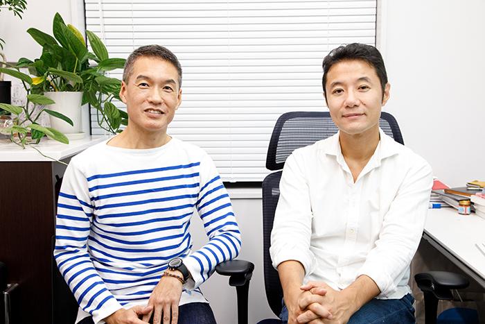 早稲田大学ビジネススクール・入山章栄教授(写真左)と電通・クリエーティブディレクター・武藤新二