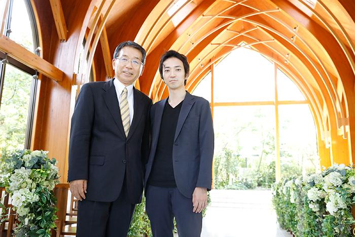 アイ・ケイ・ケイ 社長・金子和斗志氏(写真左)と電通 第1統合ソリューション局・ 中野武氏(同右)「僕は危機感だらけの人間、と言いながら、新しい挑戦に目を輝かせる金子氏。海外展開や東京進出など、挑戦を続けるIKKの今後に注目したいと思います」(中野)