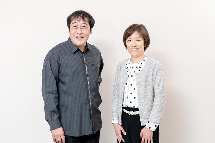黒木彰一氏(フジテレビ)と北風祐子氏(電通)
