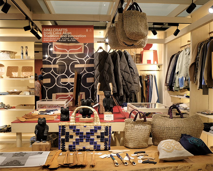 「AINU CRAFTS from Lake Akan - Tradition and Innovation -」店頭