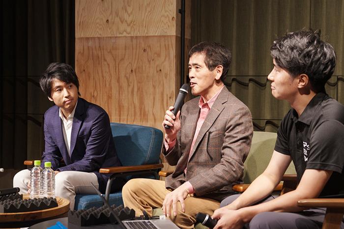 左から稲垣弘則氏(西村あさひ法律事務所)、荒木重雄氏(スポーツマーケティングラボラトリー)、白石幸平氏(電通)