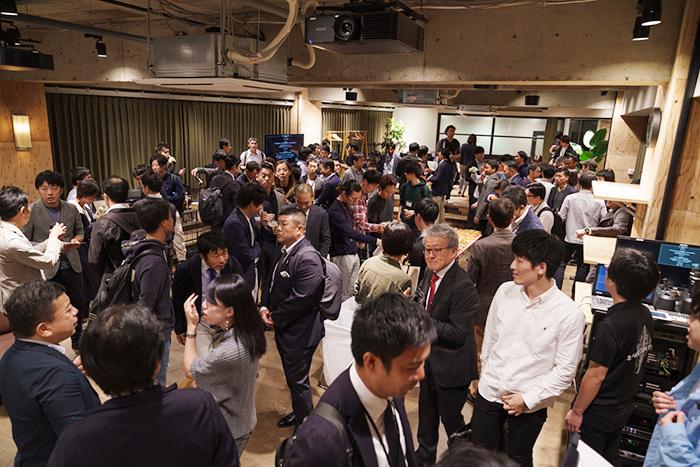回を重ねるごとに盛況となる「SPORTS TECH TOKYO」のミートアップイベント。新しいビジネスが生まれるコミュニティーとして定着しつつある。
