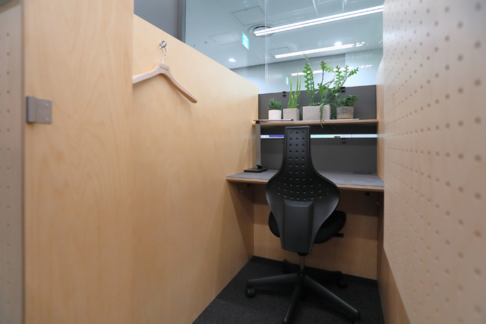 「CONCENTRATION BOOTH」の様子