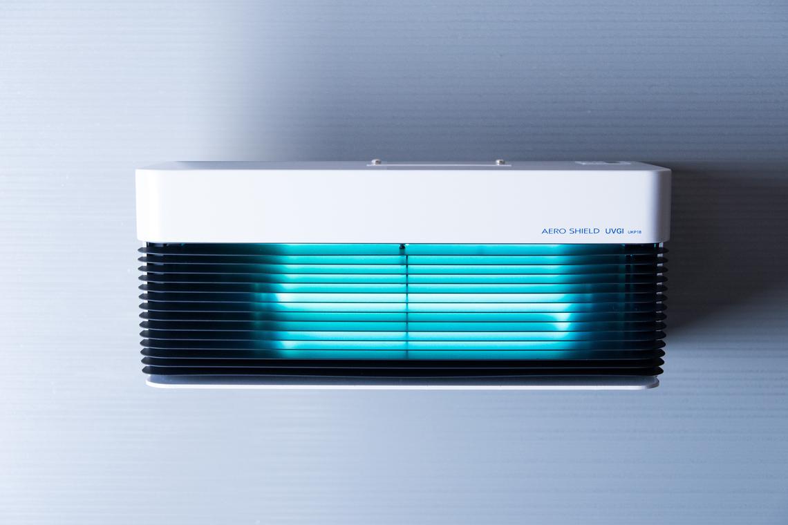 エネフォレストの主力製品・紫外線照射殺菌装置「エアロシールド」
