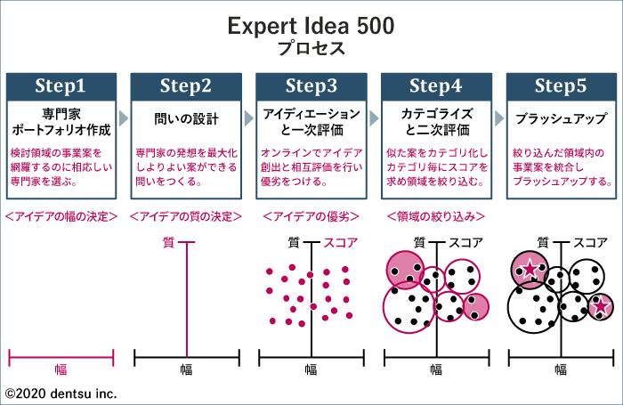 「Expert Idea 500」の五つのプロセス