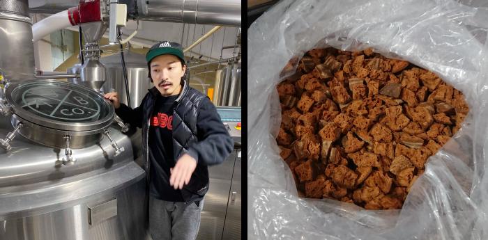 「AJBブルワリー」の佐藤孝洋さんと、オーブンで焼いたブリコラージュブレッド