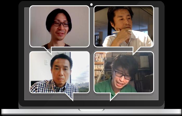 Forbesの連載をカテゴリ分けした書籍として再構築したKADOKAWAの編集者、谷内さん(左下)もリモート観覧にいらっしゃいました。