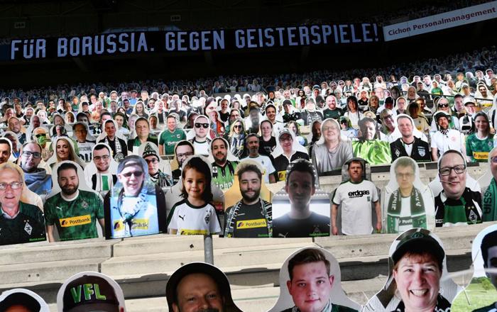 ブンデスリーガの事例。スタジアムを埋め尽くした「サポーター」たち。