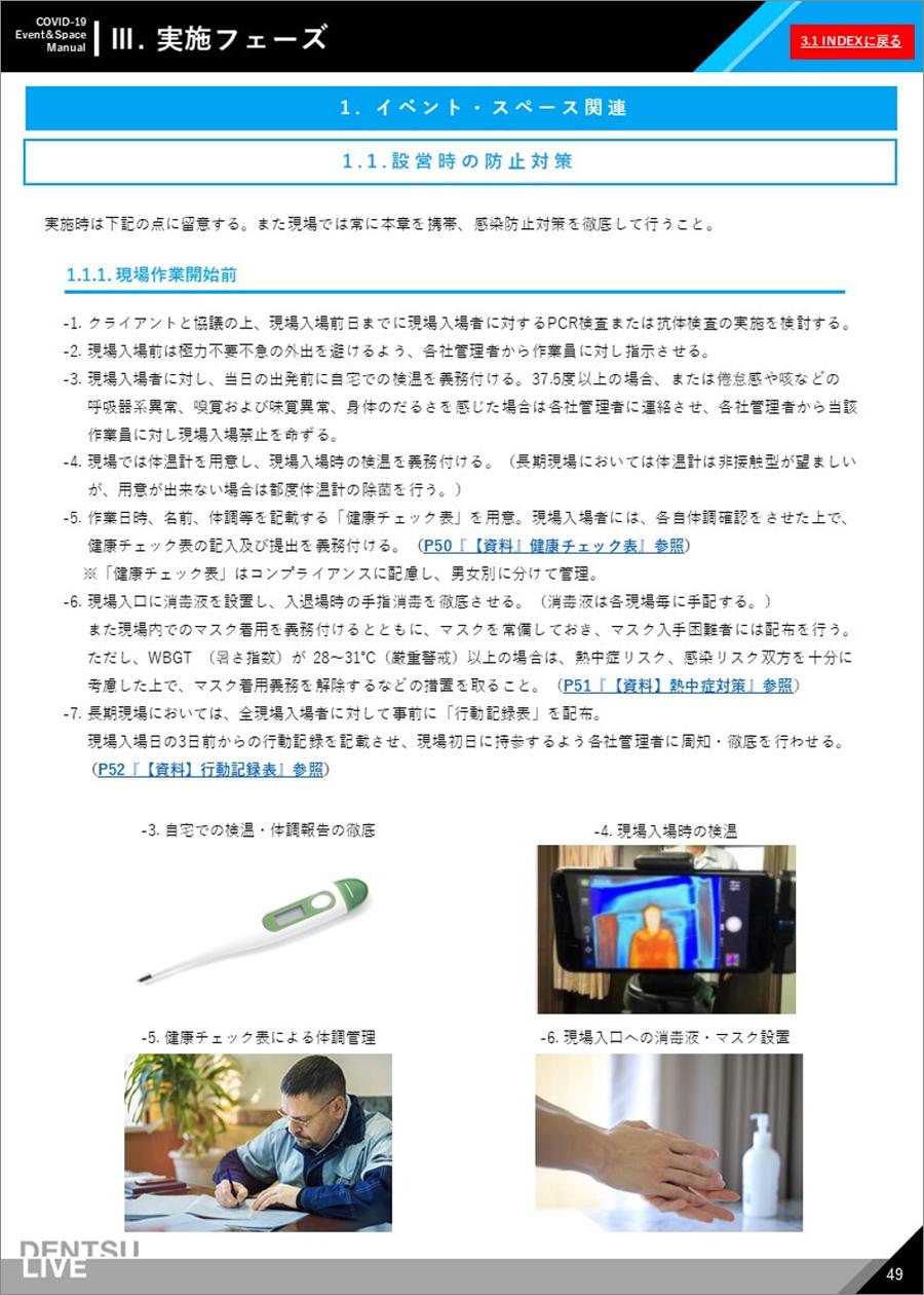 新型コロナウイルス対策マニュアル実施フェーズ