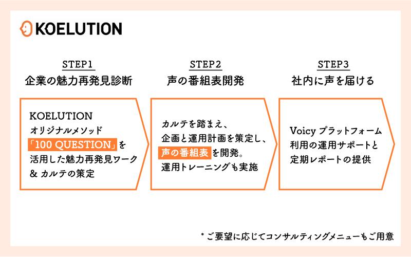 「KOELUTION」3ステップ