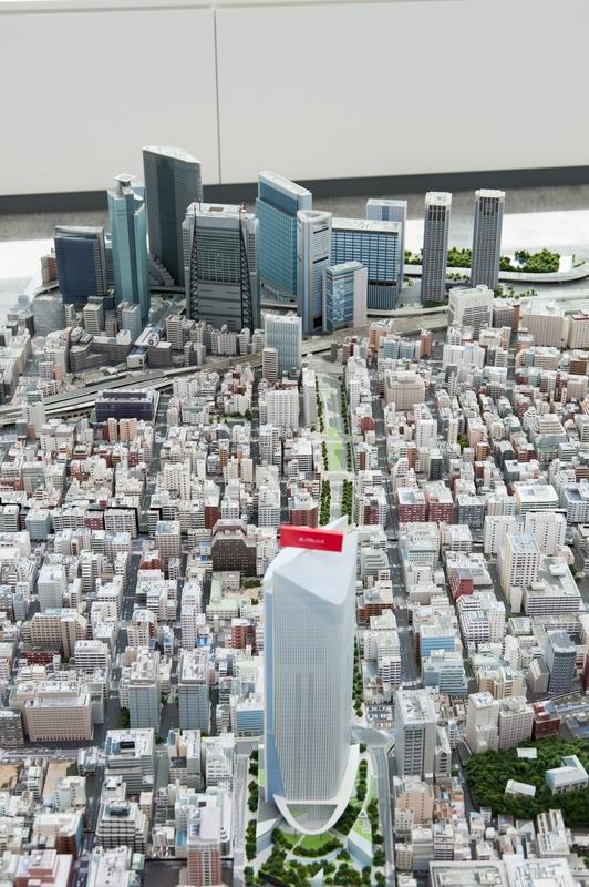 虎ノ門ヒルズと新橋・汐留エリア(模型)