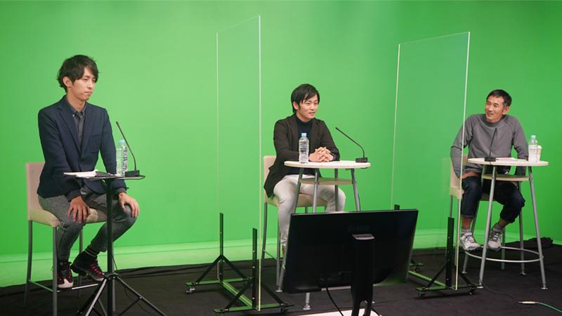 為末氏、津村氏、五勝出氏によるトークセッションの様子