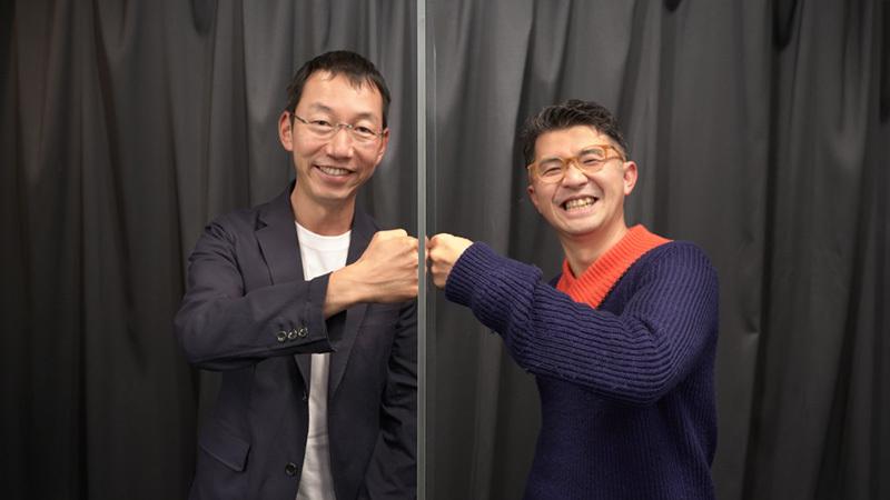 対談後の山口氏&佐宗氏