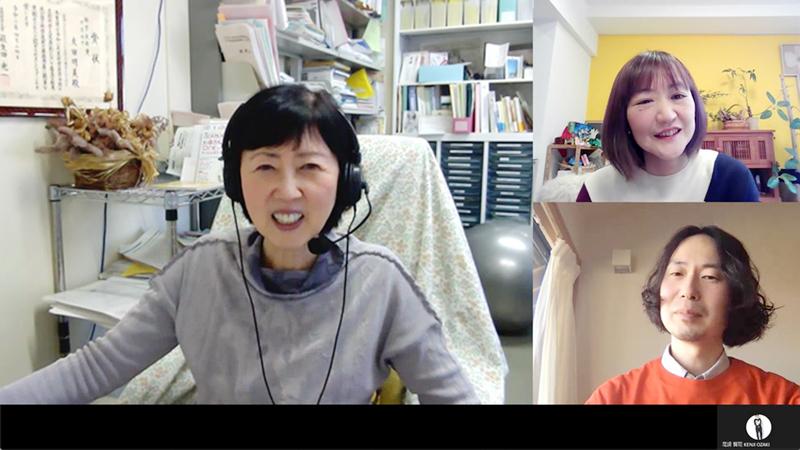 友田先生とのオンラインインタビューの様子