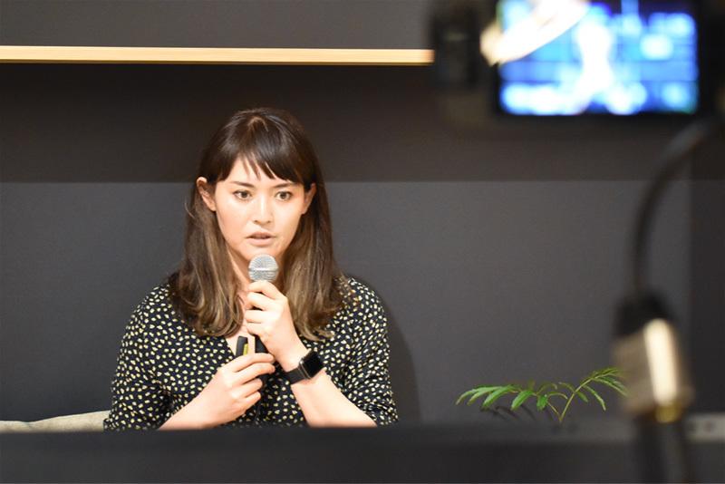 奥田涼氏:「FUND X」というソリューションで、オープンイノベーションによる企業改革を提案する。