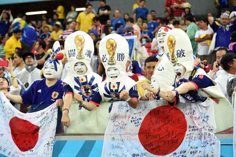サッカーのワールドカップ(W杯)ブラジル大会_日本を応援する人たち