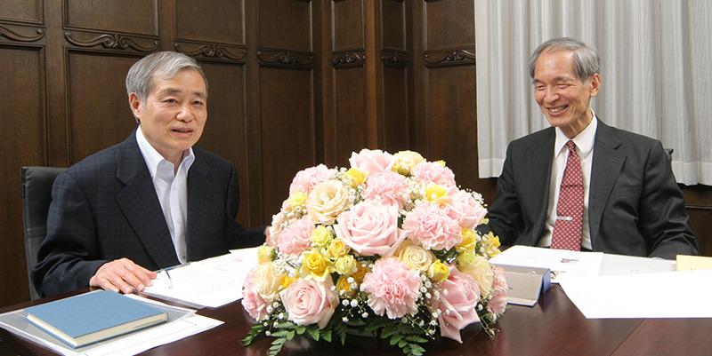 左から、疋田聰氏、阿部周造氏