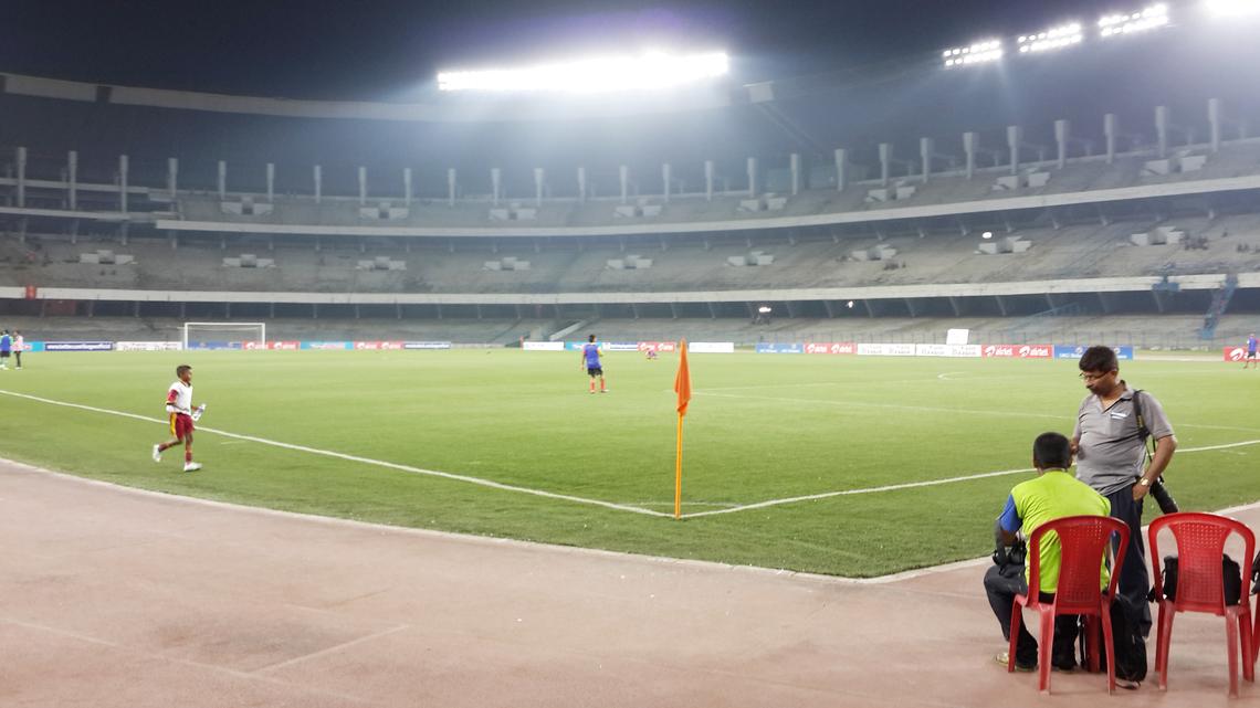 クリケット大国・インドで比較的サッカー人気の高いコルカタのスタジアム