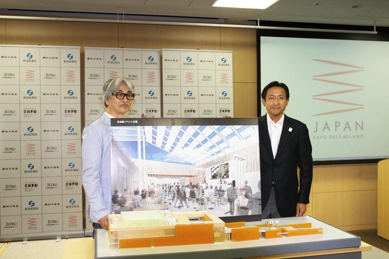 加藤代表(右)と日本館広報・行催事プロデューサー桐山登士樹氏
