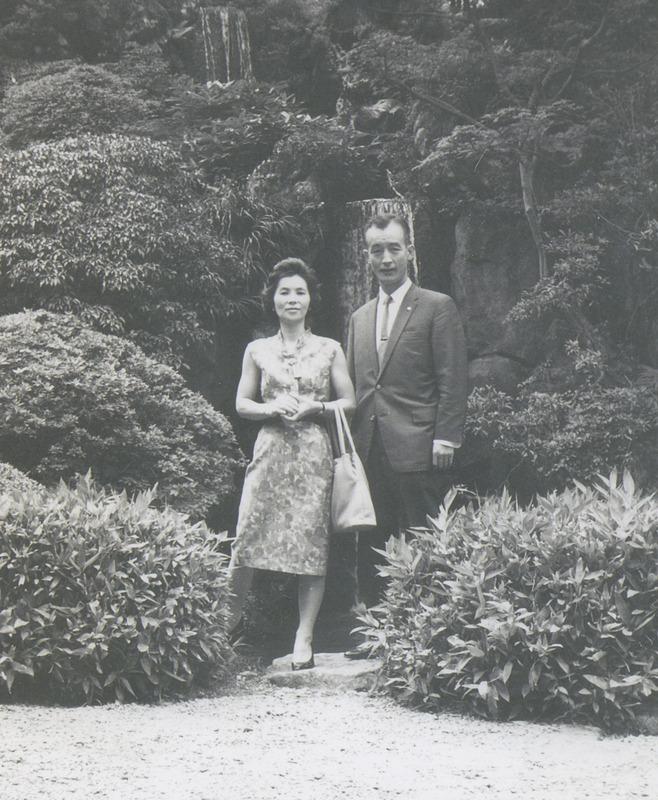 1964年ごろ、富士屋ホテルでの近藤夫妻