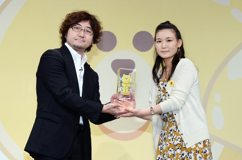 森川社長からグランプリの贈賞