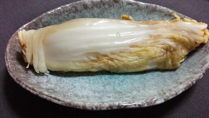 これが自家製白菜の古漬